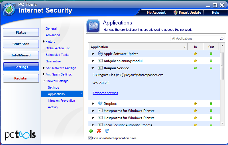 How to configure PC Tools Internet Security to work with