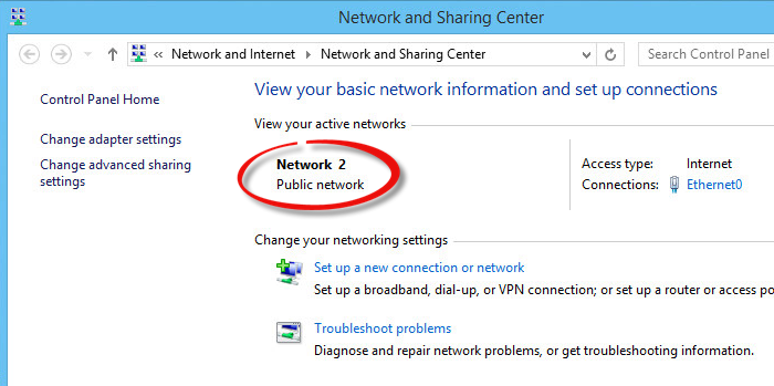 how to change network type
